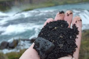 Volcanic dirt in Iceland