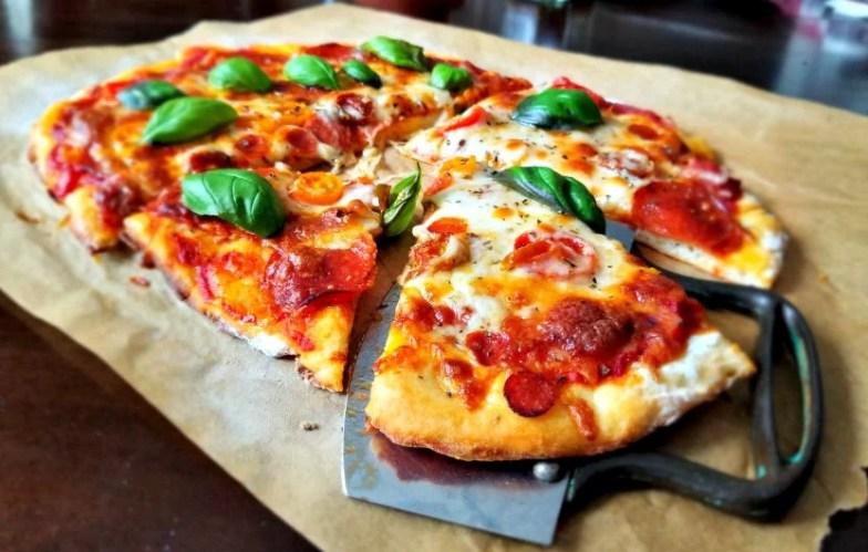 2 Ingredient Crispy Pizza crust with greek yogurt
