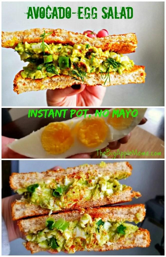 Instant Pot No Mayo Avocado Egg Salad