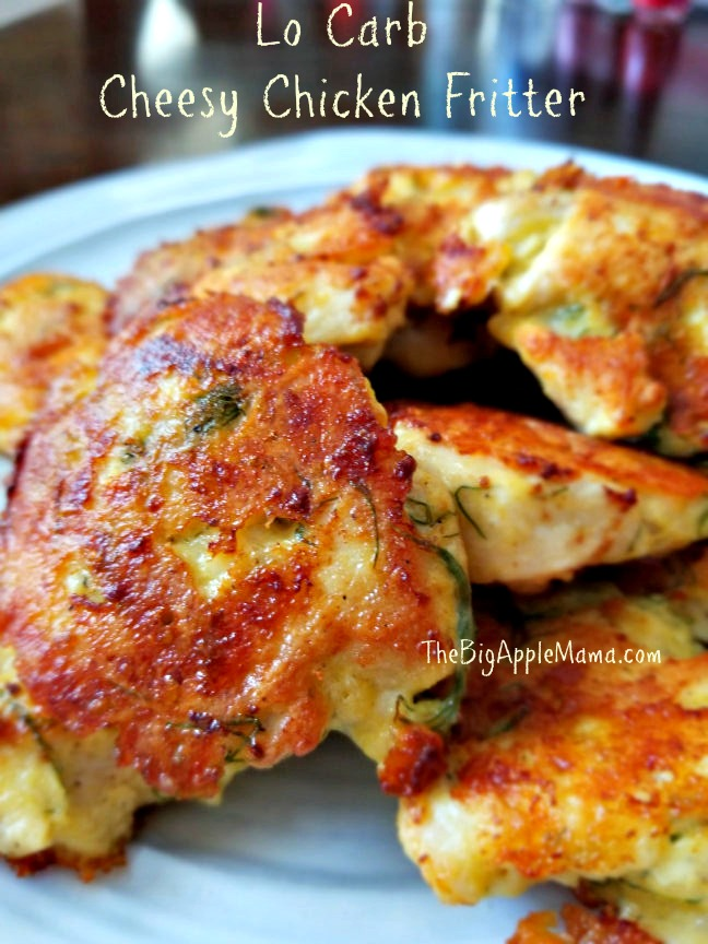 Low-Carb Cheesy Chicken Fritter