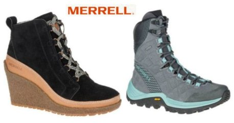 Merrell winter boots, hiking Boots with advanced cold weather gripping system