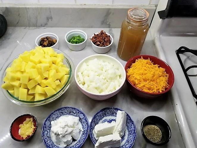 Ingredients for Instant pot potato soup