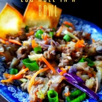 Instant Pot Egg Roll Bowls, Low Carb and Keto Friendly