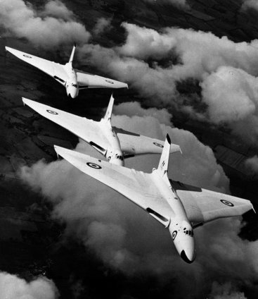 RAF Vulcans white on all sides.