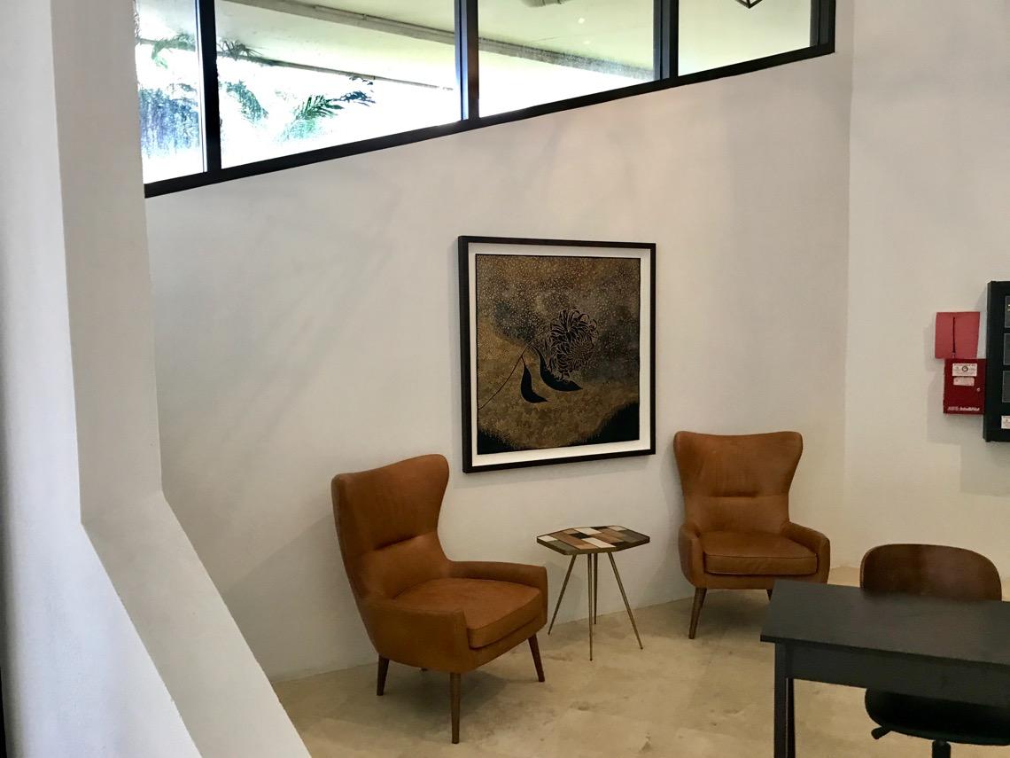 original basreliefs lining lobby of architect ken treisteru0027s u0027office in the groveu0027 office a