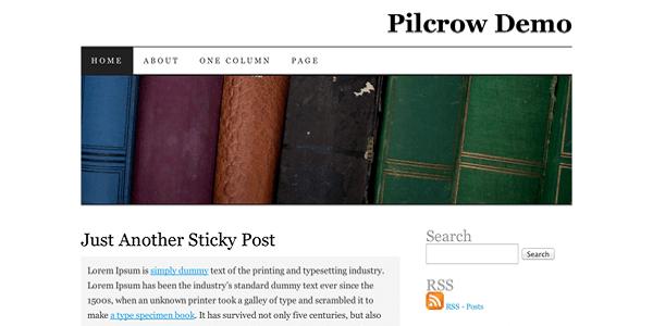 Pilcrow wordpress theme