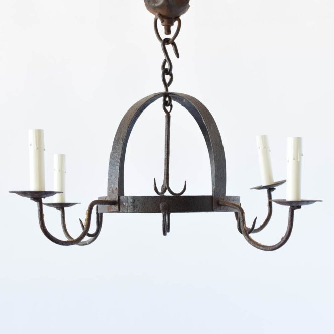 Dome Chandelier With Hooks Iron