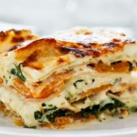 Butternut squash and broccoli rabe lasagna
