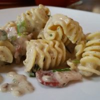 Simple Carbonara Style Armoniche Pasta