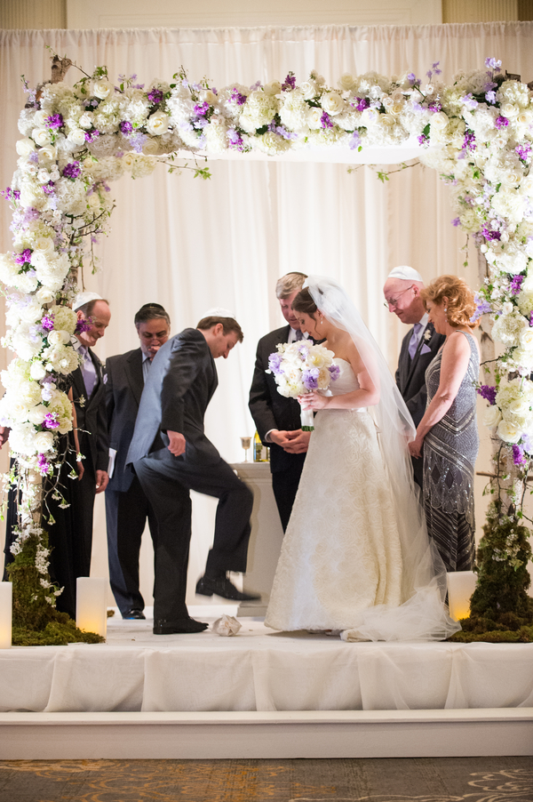 Traditional Lavender And Cream Jewish Wedding Georgia