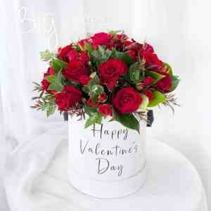 The Big Flower Bouquet Roses & Roses Red Hat Box Premium