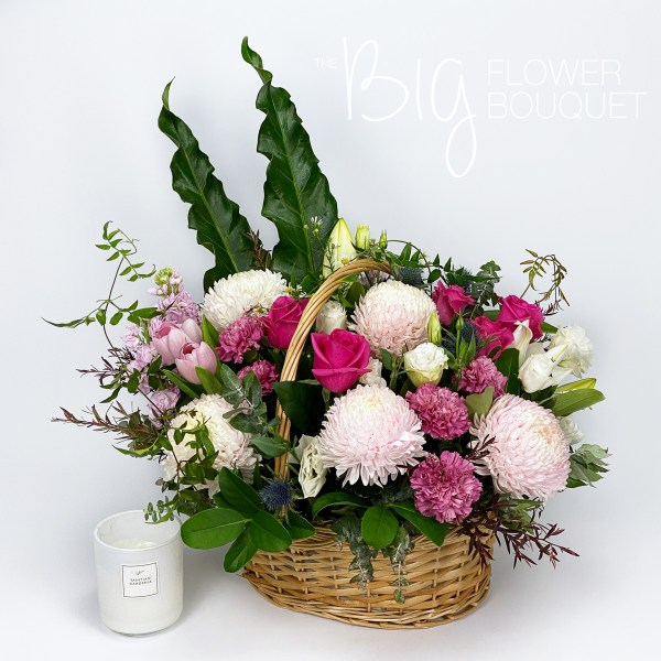 Flower Delivery Melbourne - The Big Flower Bouquet - Mother's Day Flower Basket - Same Day Flower Delivery - Mother's Day Gift