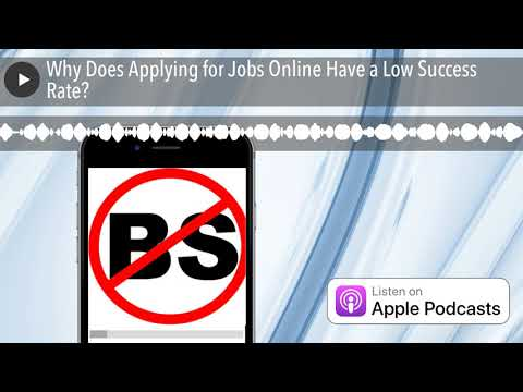 Why Does Applying for Jobs Online Have a Low Success Rate? | NoBSJobSearchAdvice.com
