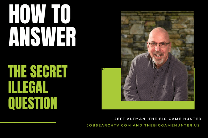 How to answer the secret illegal question