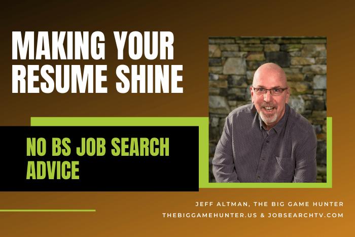 Making your resume shine