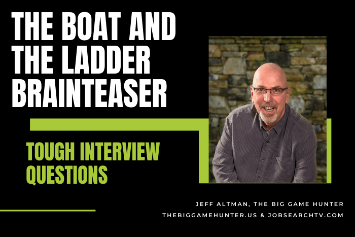 The boat and the ladder brainteaser