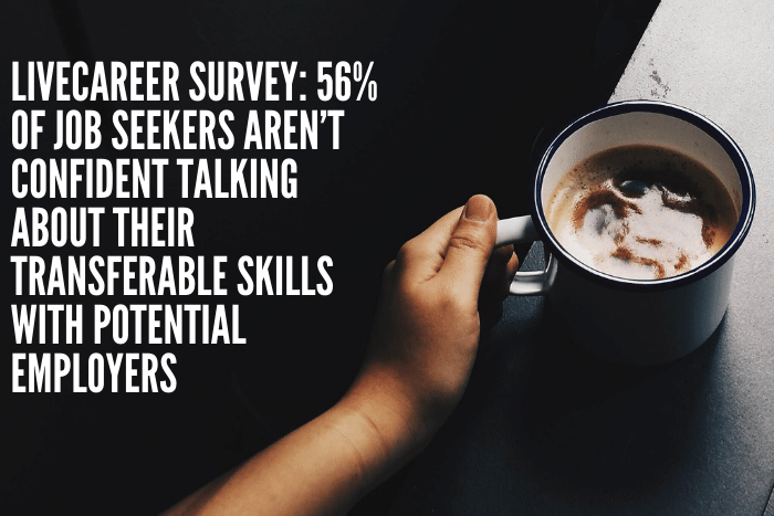 LiveCareer Survey: 56% of Job Seekers Aren't Confident Talking About Their Transferable Skills With Potential Employers