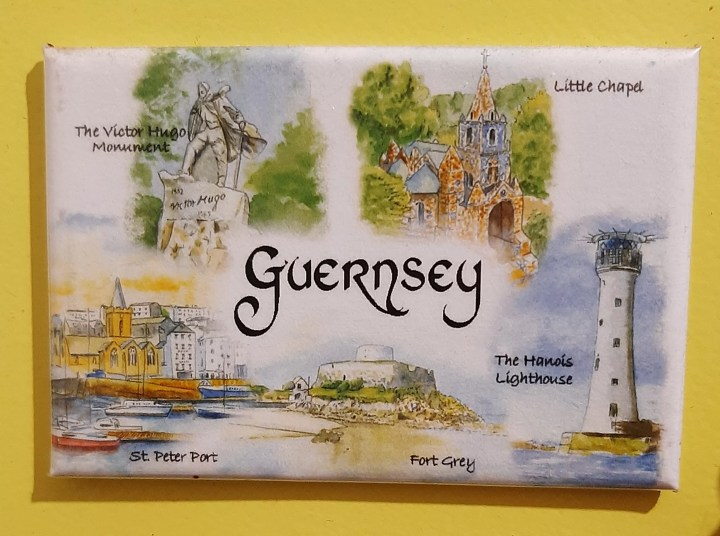 This magnet from Guernsey added to my collection of fridge magnets