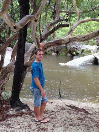 Tim at Davies Creek