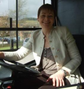 Caroline Lucas behind the wheel-1