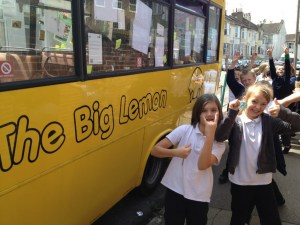 The Big Lemon electric bus campaign - creating a better future for our children