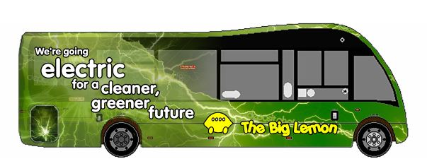 The Big Lemon zero-emission electric bus