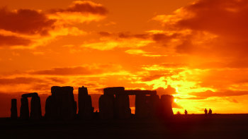 stonehenge at sunset