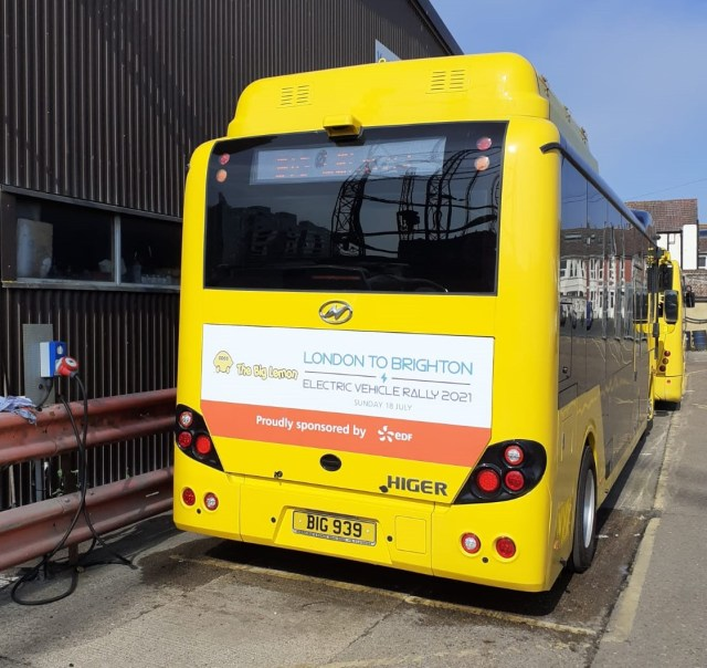 Higer Bus with L2BEVR branding