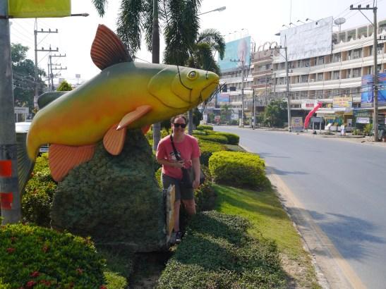 Fish Statue Sinbburi