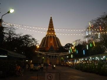 Sunset at Chedi in Nakhon Pathom
