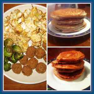 Laura's chick-less nuggets   Davida's grain free protein pancakes   Alex's peanut butter pancakes