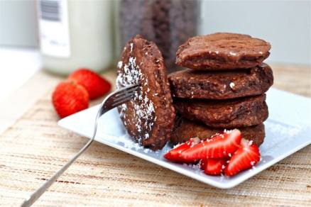 Lamington Pancakes (GF, High Protein, Sugar Free)