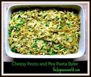 Cheesy Pesto and Pea Pasta Bake (Gluten Free)