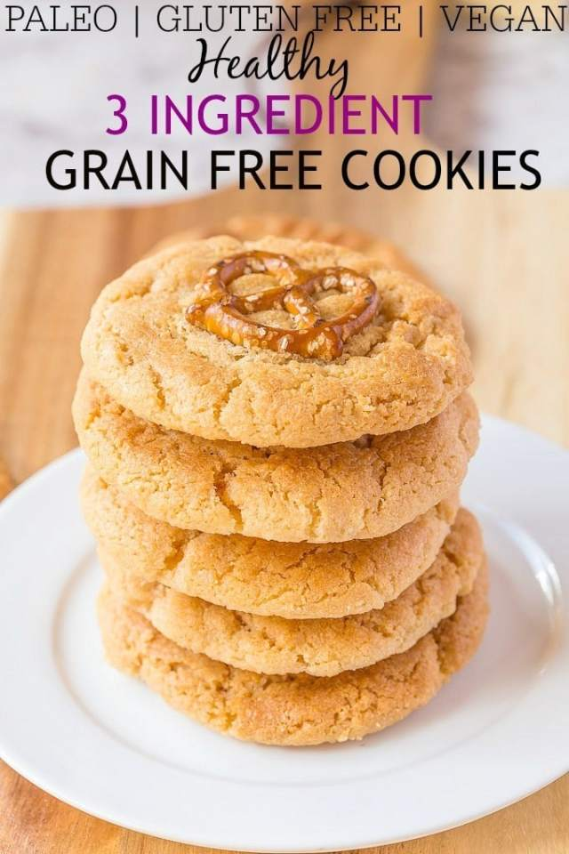 3 Ingredient {customisable!} Grain Free Cookies- Customisable 3 ingredient paleo cookies which just require THREE ingredients! 1 bowl and 10 minutes is all you'll need and the best part is how easy they are- Paleo, Gluten Free and a vegan option! @thebigmansworld -thebigmansworld.com