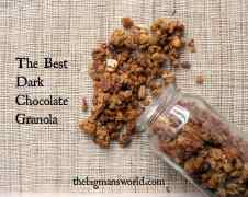 The Best Dark Chocolate Granola