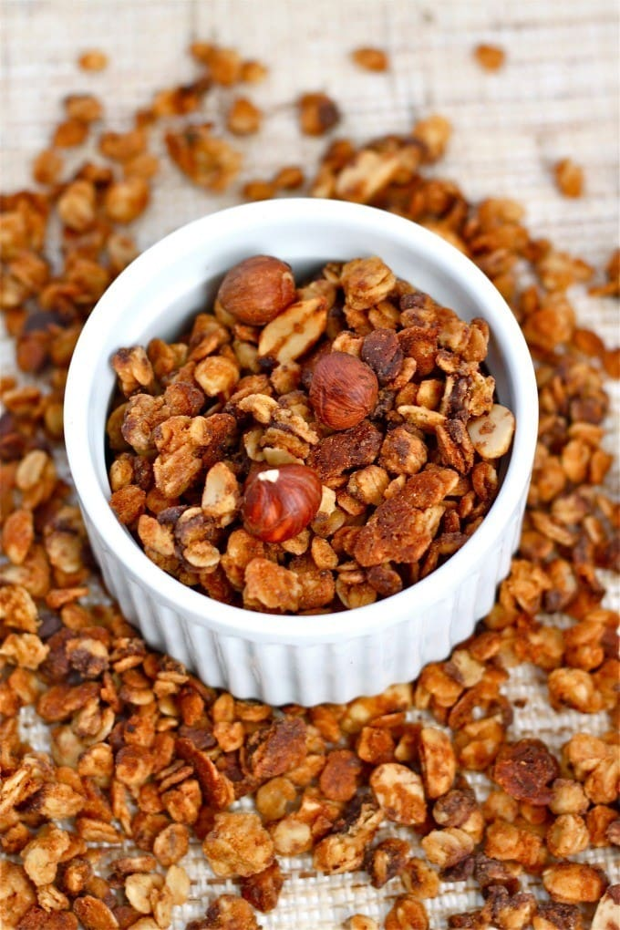 Hazelnut Espresso Granola- Healthy, filling and a delicious breakfast or snack!