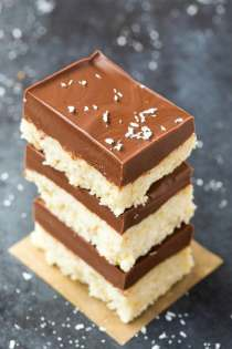 4 Ingredient No Bake Mound Bounty Bars (V, GF, P, DF)- Easy, fuss-free and delicious, this healthy candy bar copycat combines coconut and chocolate in one! {vegan, gluten free, paleo recipe}- thebigmansworld.com