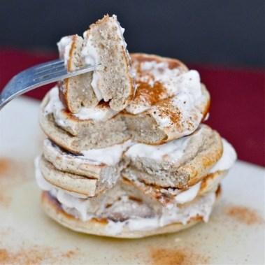 Cinnamon Bun Protein Pancakes (GF, High Protein, Sugar Free)