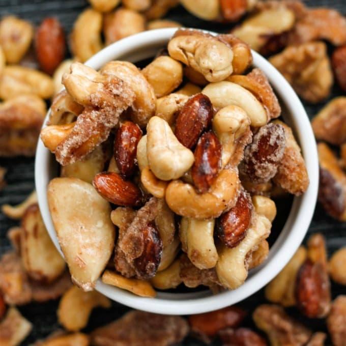 Easy Stovetop Sugar Free Candied Nuts (Keto, Paleo, Vegan)