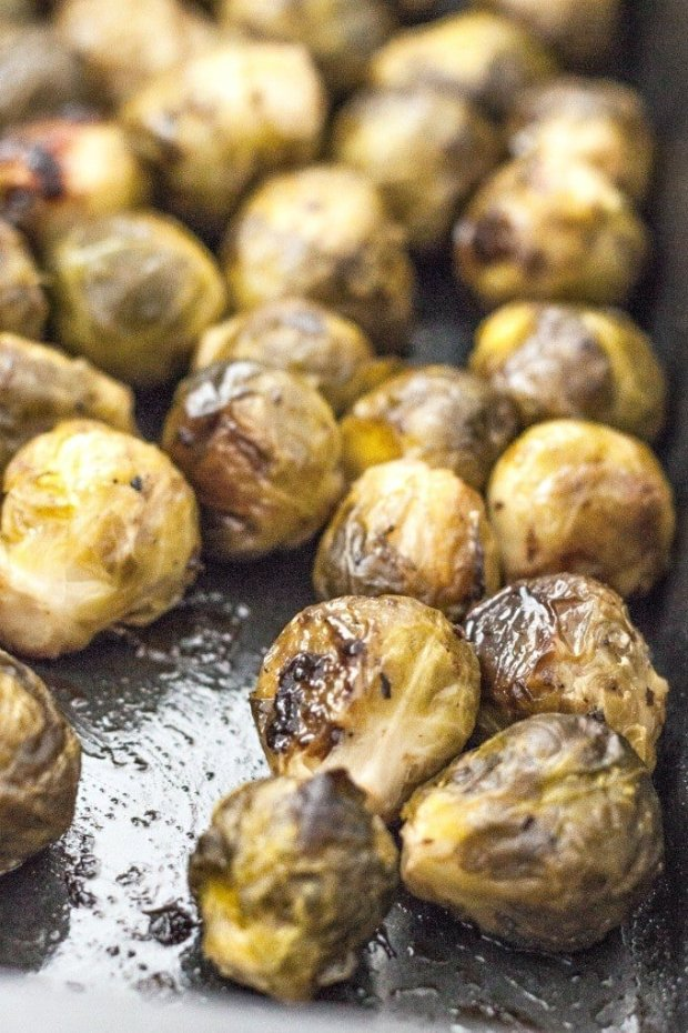Copycat Whole Foods Balsamic Brussels Sprouts- thebigmansworld.com