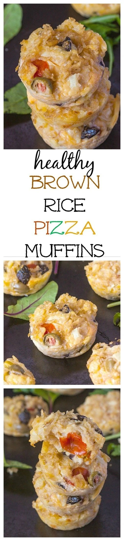 Healthy Brown Rice Pizza Muffins- All the flavours of pizza without flour, dough and made in muffin tins! @thebigmansworld- thebigmansworld.com