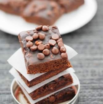 Greek Yogurt Chocolate Brownies (Gluten Free, High Protein)