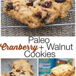 Paleo Cranberry Walnut Cookies