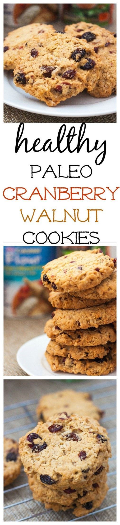 Paleo Cranberry Walnut Cookies- 20 minutes between you and these chewy, delicious cookies which are paleo and grain free! @thebigmansworld - thebigmansworld.com