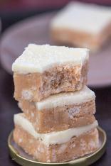 Paleo Cashew Coconut Protein Fudge- Vegan option too! -thebigmansworld.com