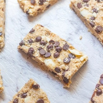 3 Ingredient No Bake Protein Bars- You won't find a more simple recipe than this delicious healthy no bake snack bar- #allergyfree #dairyfree #glutenfree #vegan and ready in 5 minutes! Perfectly customisable! -thebigmansworld.com - @thebigmansworld.com