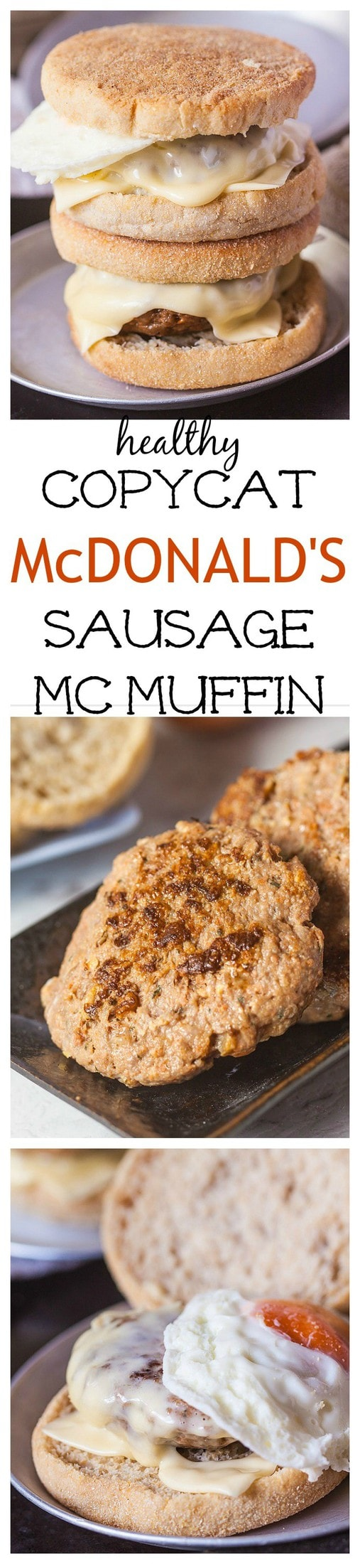 Copycat McDonalds Sausage McMuffin- A healthier take on McDonalds Sausage McMuffin, this version is paleo, whole30 friendly, gluten free, sugar free and are lower in fat than the original without sacrificing on taste or flavour! Theytake less than 10 minutes to whip up and are perfect for food prep for easy grab and go breakfasts for the week- Bonus- You can even use my Paleo English Muffin recipe too! @thebigmansworld - thebigmansworld.com