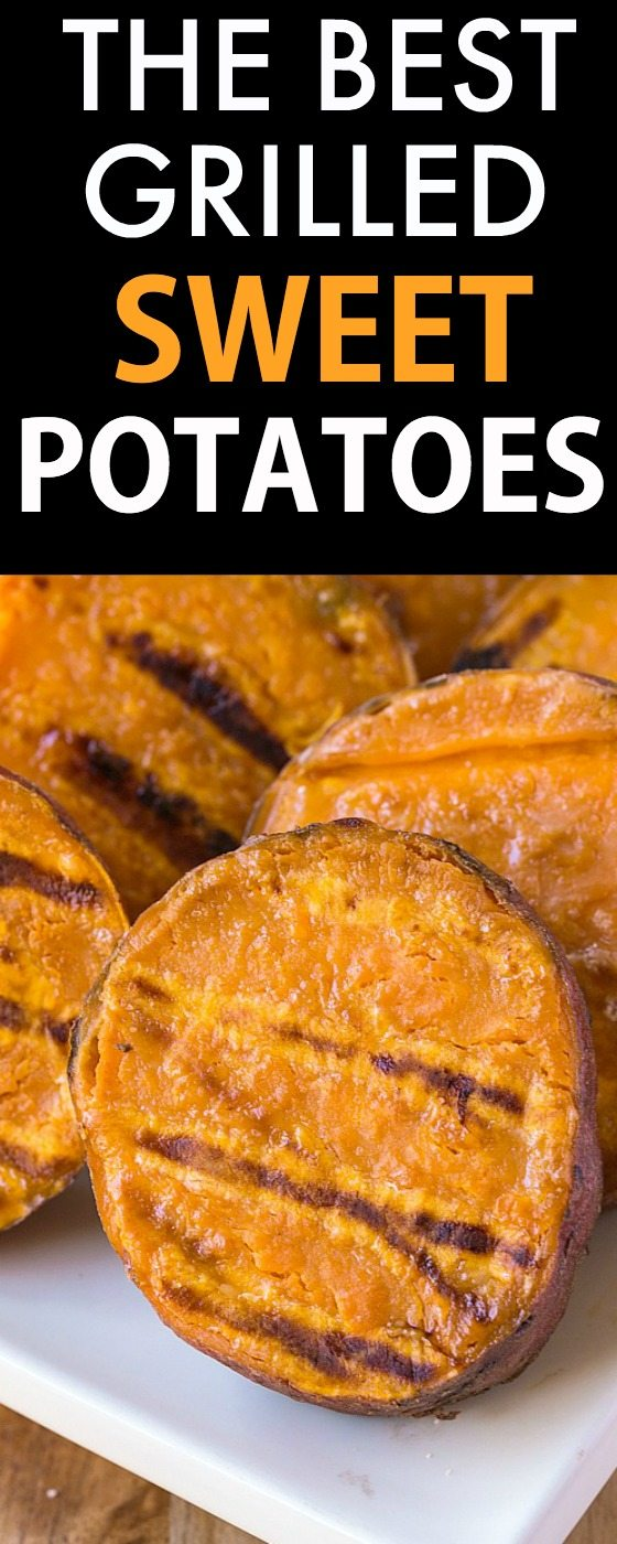 The BEST Grilled Sweet Potatoes Ever- A secret trick to perfect sweet potatoes every time, they taste AMAZING! {vegan, gluten free, paleo recipe}- thebigmansworld.com
