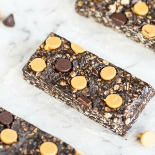 Extra Chewy Chocolate Peanut Butter Granola Bars