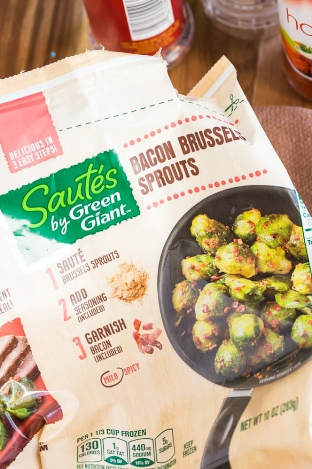 Warm Brussels Sprouts and Chorizo Salad- A quick and easy weeknight meal which takes less than 15 minutes- Filling, healthy and hearty- Perfect for a main or appetiser- thebigmansworld.com